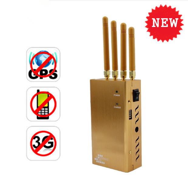 小型携帯電話ジャマー8341ha-4 goldenの電話ジャマー